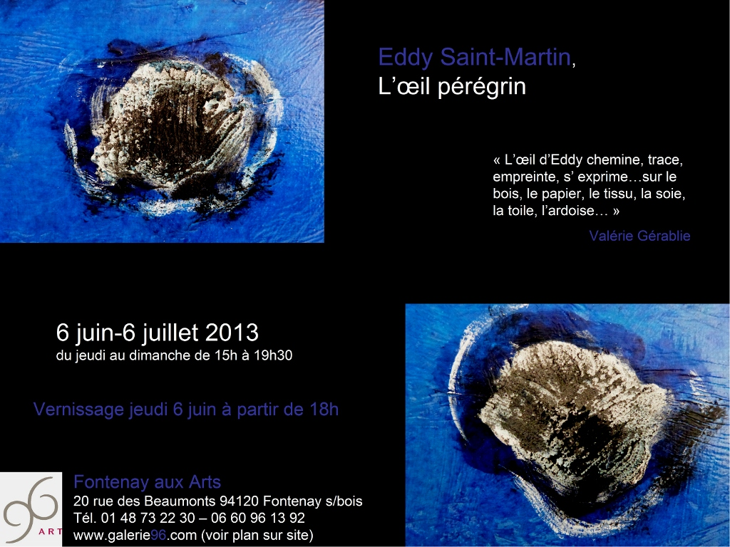 EXPO EDDY SAINT MARTIN A FONTENAY SOUS BOIS
