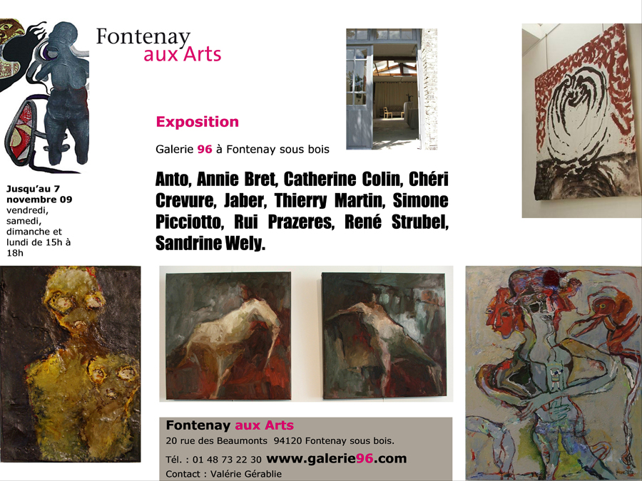 exposition inauguration Fontenay aux arts